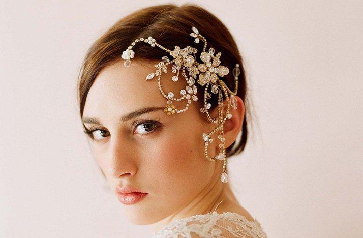 свадебные украшения для волос 2017
