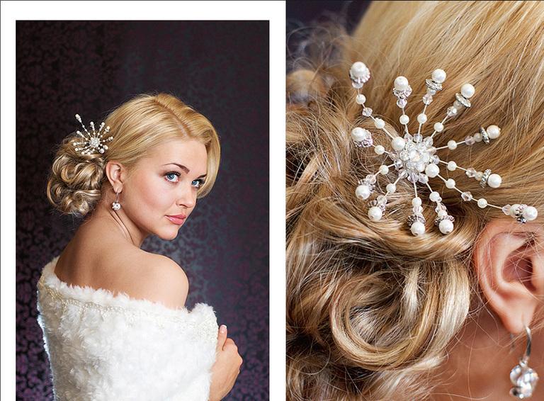 фото свадебных украшений для волос 2017 года 2