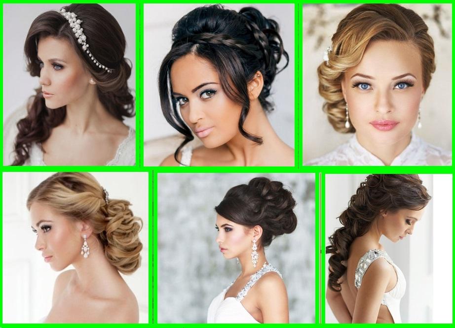 Свадебные причёски женские на средние волосы