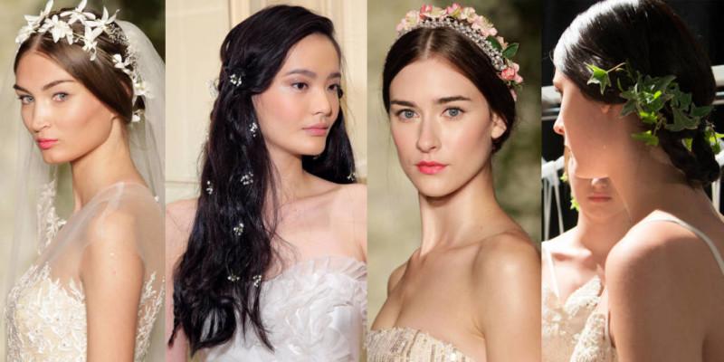 фото свадебных украшений для волос сезона весна-лето 2017 2