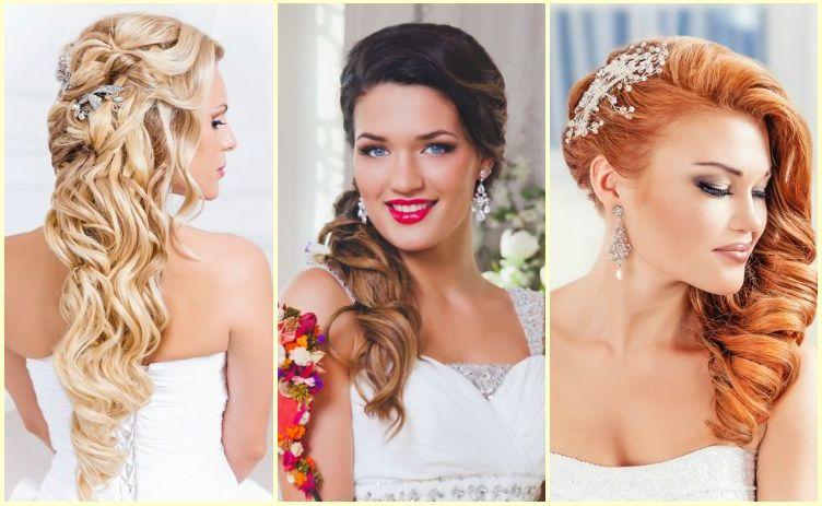 Свадебные прически с заколками на средние волосы