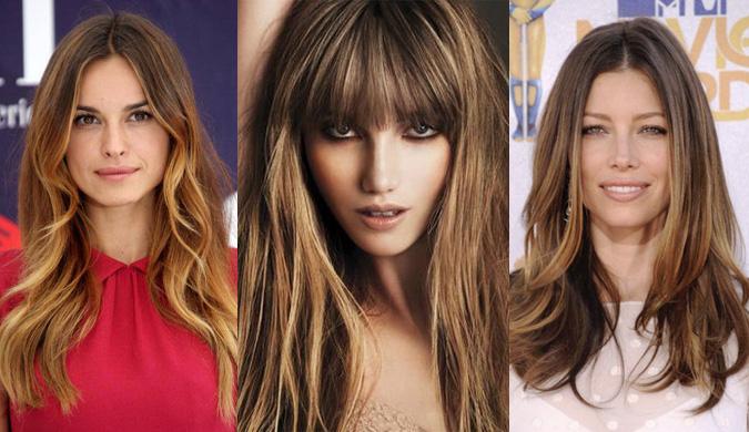 эффект выгоревших волос или шатуш 2017 на фото