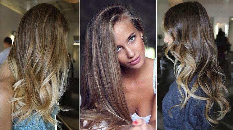 эффект выгоревших волос или шатуш 2017 на фото 1