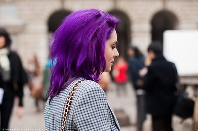 фиолетовый цвет волос 2017