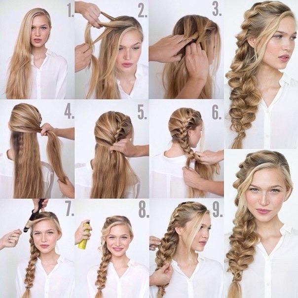 Красивый прически на длинные волосы поэтапно