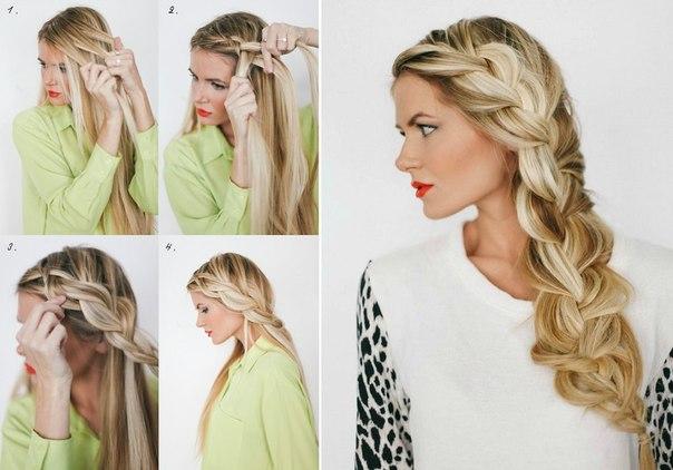 Как самому сделать прическу на длинные волосы на бок - Регионмонтажэнерго