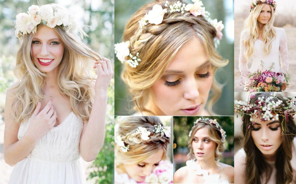 Причёска с цветами на свадьбу