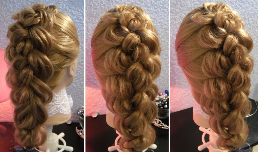 модные и красивые косы из четырех (4) прядей, фото