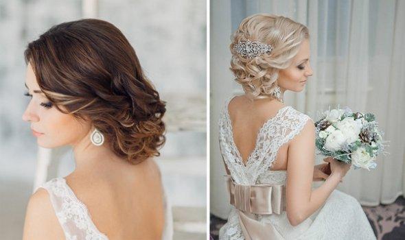 Причёска на свадьбу на средние волосы 2017