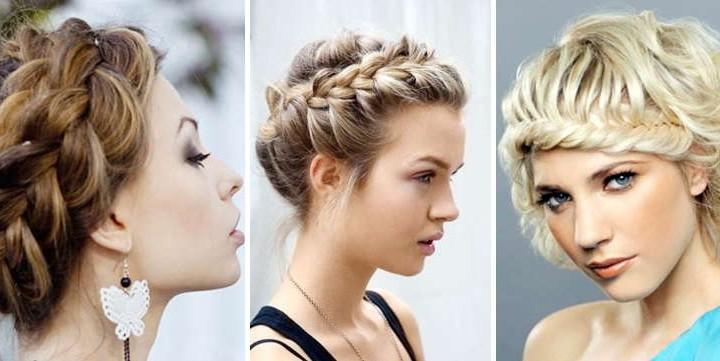 модные и красивые косы на короткие волосы 2017, фото 1