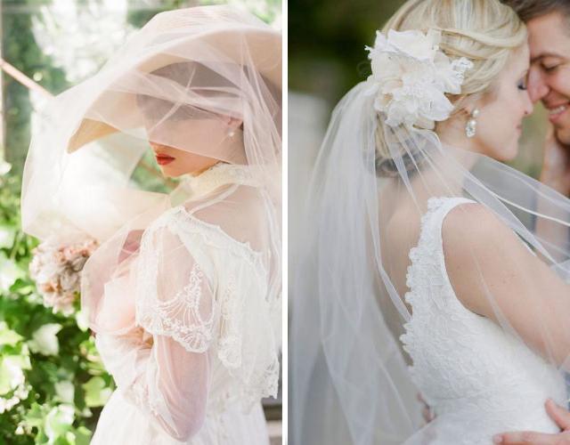 свадебные прически 2017 с короткой фатой, фото 4