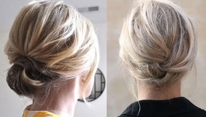 деловые прически на средние волосы 2