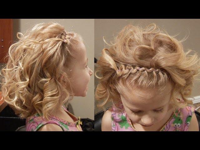 детские прически для девочек на средние волосы 1