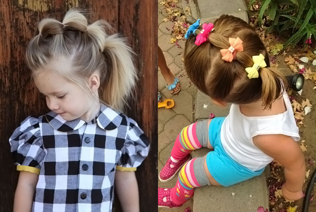 Прически на средние волосы для девочки 3 года