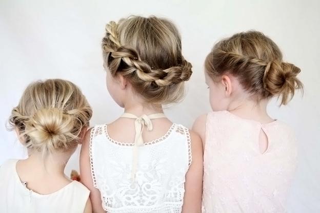 детские прически для девочек на средние волосы 3