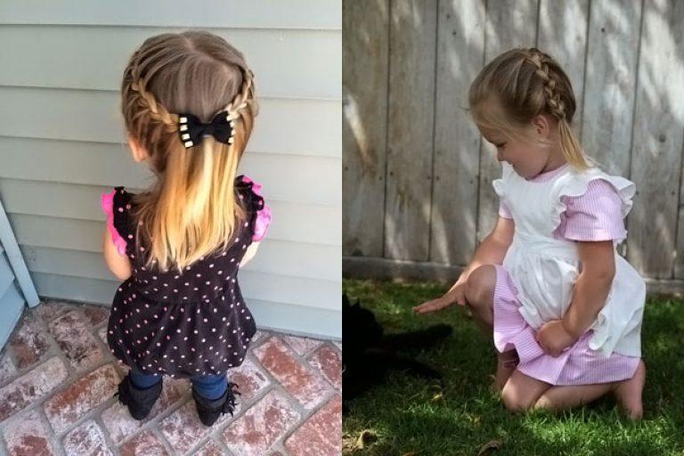 Прически для девочек в садик