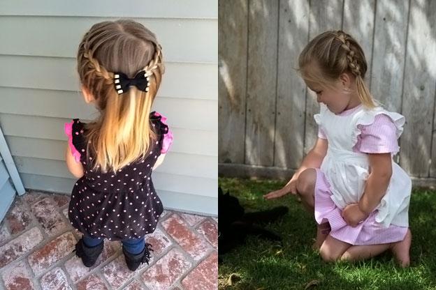 детские прически для девочек на длинные волосы 2