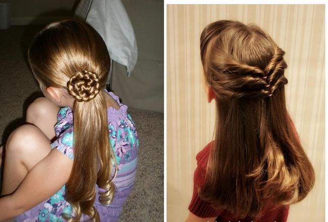 детские прически для девочек на длинные волосы 3