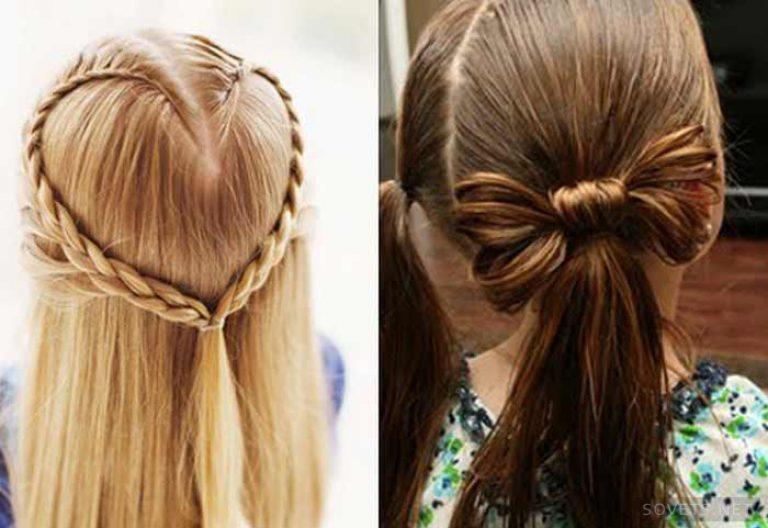 Прически для девочек длинных волос в домашних условиях с фото