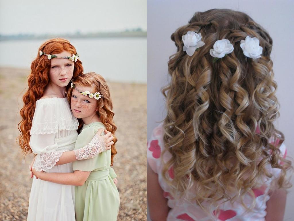 детские прически для девочек на длинные волосы 7