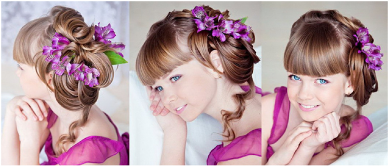 Детские прически для девочек на свадьбу и как их делать