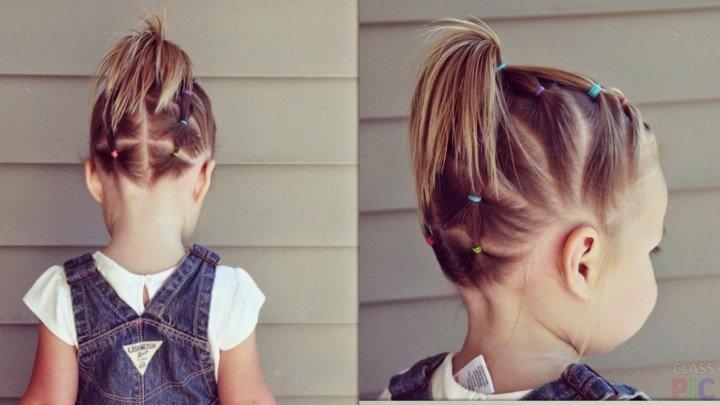 детские прически для девочек на короткие волосы 1