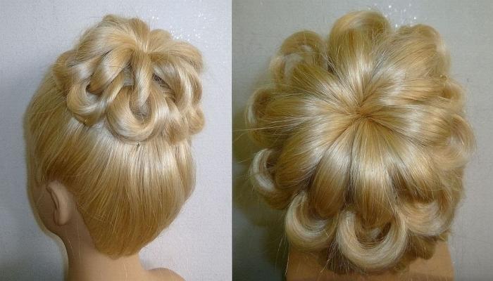 пучок из волос на основе локонов