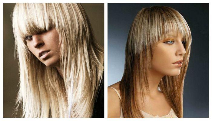 рваные стрижки на средние волосы на фото 2