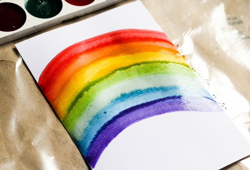 Рисуем радугу … легко