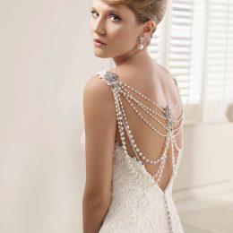 Шикарные свадебные платья с открытой спиной: обзор вариантов и особенности выбора