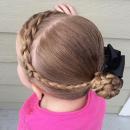 Челка из косы для девочек