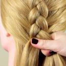 Обратная коса для девочек