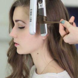 Как завить волосы на утюжок
