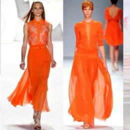 Актуальный  тренд: оранжевый цвет в одежде